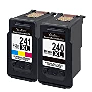 #LightningDeal 98% claimed: Valuetoner Remanufactured Ink Cartridge Replacement for Canon PG-240XL CL-241XL High Yield 5206B005 5206B001 5208B001 (1 Black, 1 Color) 2 Pack for Canon Pixma MG3620 MX432 MX532 MG3520 MX452 MX512