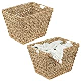 mDesign Rectangle Woven Braided Rope Seagrass