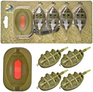 Carp Fishing Inline Method Feeder Set with Quick Release Moulds for Bait Holder Tool, Carp Fishing Baits Equip