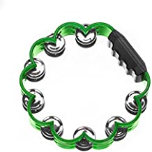 Tambourine for Kids and Adults - Easy to Use - Comfortable Hand Held Percussion Instrument - Great for Choirs - Percussion Ensembles - Birthday Parties - Drum Circles - Etc (Shamrock)