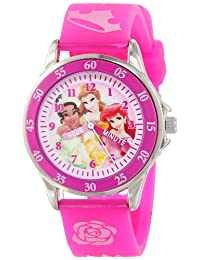 Disney Kids 'pn1051 Princesas Disney reloj con banda de color rosa