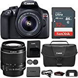 Canon EOS Rebel T6 DSLR 18mp WiFi Enabled + 18-55mm IS [Image Stabilizer] II Zoom Lens + Canon Professional Gadget Bag + Sandisk 32GB Class 10 Ultra High Speed Memory Card (CERTIFIED REFURBISHED)
