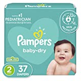Diapers Size 2, 37 Count - Pampers Baby Dry