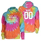JANT Girl Custom Volleyball Tie Dye Sweatshirt - Bump, Set, Spike Logo