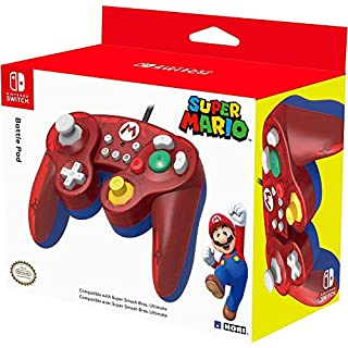 HORI Nintendo Switch Battle Pad (Mario) GameCube Style Controller - Nintendo Switch