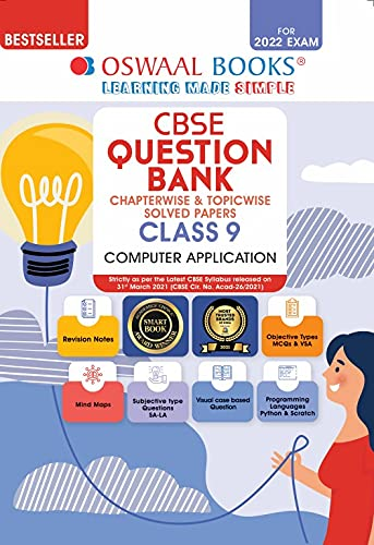 Oswaal CBSE Question Bank Class 9 Computer Applications Book Chapterwise & Topicwise (For 2022 Exam)