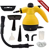 Comforday Multi-Purpose Handheld Pressurized Steam Cleaner with 9-Piece Accessories for Stain Removal, Carpets, Curtains, Car Seats, Kitchen Surface & much more