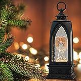 "Eldnacele 12"" Christmas Snow Globe Lantern Angel"