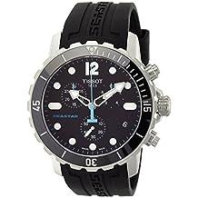 Tissot Men's T066.417.17.057.00 'Seastar 1000' Black Dial Black Rubber Strap Swiss Quartz Watch