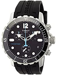Men's T066.417.17.057.00 'Seastar 1000' Black Dial Black Rubber Strap Swiss Quartz Watch