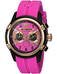 BTECH Women BT-CN-323-14 Nua Analog/Chronograph Pink Silicone Strap Band Wrist Watch