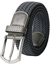 """Men's Stretch Woven 1.3""""Wide Elastic Braided Belts"""