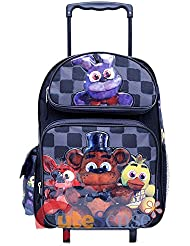 Five Nights At Freddys Large School Roller Backpack 16 inches Trolley Rolling Bag