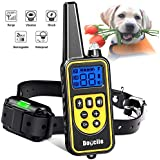 Dog Training Collar, Dog Shock Collar with Remote 2500FT Shock Collar for Dogs IPX7 Waterproof Rechargeable w/ Beep 99 Levels Vibrate Shock Modes for Small Medium Large Dogs