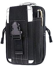 Unigear Taktische Hüfttaschen Herren, mit Aluminiumkarabiner, Gürteltasche Bauchtasche Handytasche Molle Tasche Multifunktional Outdoorsport, Kompakt und leicht, MEHRWEG