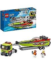 LEGO City Raceboottransport 60254 racebootspeelgoed, leuke bouwset voor kinderen (238 onderdelen)