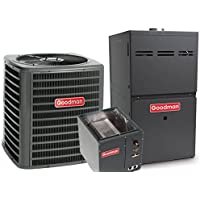 3.5 Ton Goodman 14 SEER R410A 92% AFUE 80,000 BTU Upflow Gas Furnace Split System (Yes, please add one to my order)