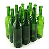 Strange Brew Green Wine Bottles, 750 ml Capacity (Pack of 12)