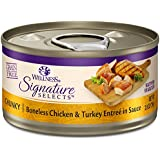 Wellness CORE Signature Selects Grain Free Wet Canned Cat Food, Chunky Chicken & Turkey, 2.8-Ounce (Pack of 12)