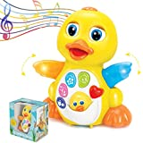 ToyThrill Duck Toy - Best Musical Baby Toys for 1 Year Old Girl & Boy, Babies, Infant or toddler - Music, Light Up & Dancing Modes, 6 Singing Musical Songs - Awesome Baby Shower Gift (Yellow)