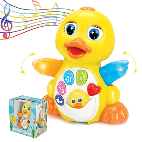 ToyThrill Duck Toy – Best Musical Baby Toys for 1 Year Old Girl & Boy, Babies, Infant or toddler – Music, Light Up & Dancing Modes, 6 Singing Musical Songs – Awesome Baby Shower Gift (Yellow)