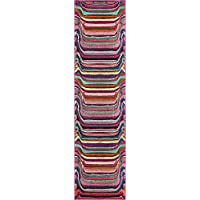 Unique Loom Spectrum Collection Multi 3 x 10 Runner Area Rug (2 7 x 10)