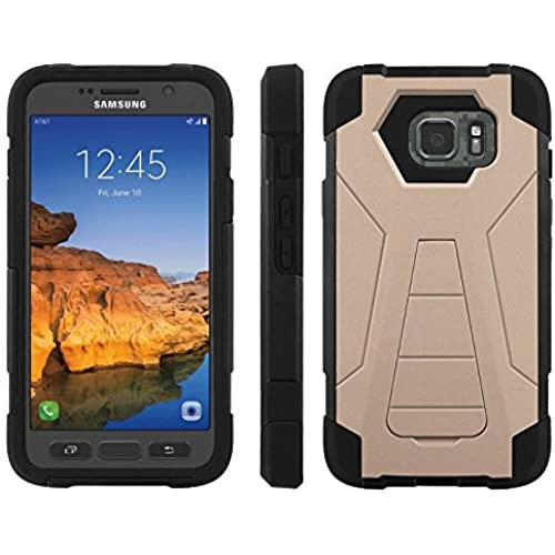 AT&T [Galaxy S7 Active] ShockProof Case [ArmorXtreme] [Black/Black] Hybrid Defender [Kickstand] - [Toasted Almond] for Samsung Galaxy [S7 Active] Sales
