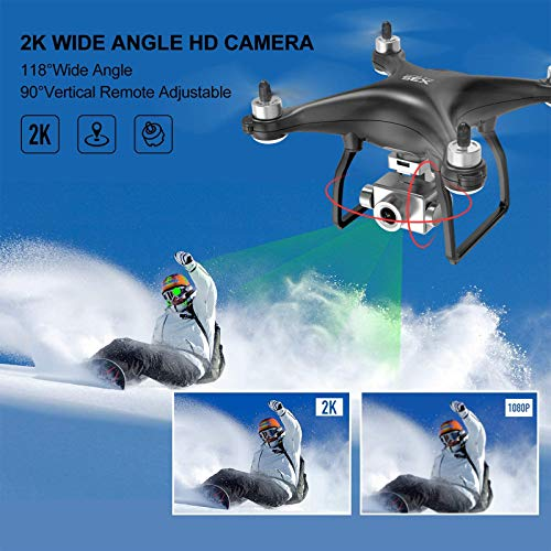 NEHEME NX35 2K GPS Drones with Camera for Adults, 5G FPV RC Camera Drone with Brushless Motor, 2 Batteries 40min-Upgrade, Auto Return Home, Advanced Selfie for Beginners…