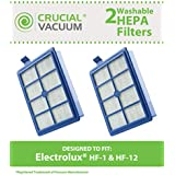 2 HEPA Filters for Electrolux and Eureka Vacuums; Compare to Electrolux Part No. HF12, or Eureka Part No. HF-1; Designed & Engineered by Think Crucial