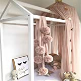 Meiyiu Baby Room Decoration Garland Ball Garland Bunting for Wedding or Party Children's Room Mosquito Net Crib Net Accessories Pink