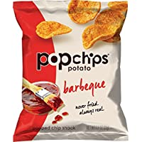 24 Count Popchips Chip Snack, Popped, Barbeque Potato