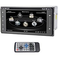 QSICISL 6.95 inch Toyota Universal DVD Player fit for Corolla Hilux Vios Zelas Matrix Previa Prado Land Cruiser Fj Cruiser Carmy 4runner Fortuner 100 Series Stereo Touchscreen Radio Built-in Bluetooth