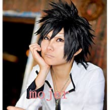 Smile Fairy Tail Gray Fullbuster Straight Short Black Cosplay Anime Wig