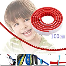 Toy Block Tape, Loops Compatible Baseplate Toy Brick Building Block lego Tape, Fxexblin Reusable Adhesive Strips, Multiple Colors (100cm, red)