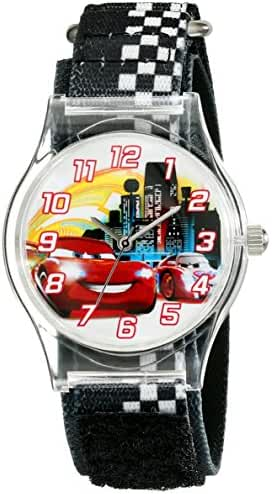 Disney Kids' W001970 Cars Analog Black Watch