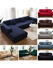 ZOUJIN 1/2/3/4 Seater Sofa Cover L Shape Universal Couch Cover Sofa Slipcover Sofa Protector