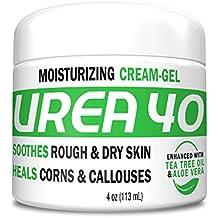 Urea 40 % Percent Cream/Gel for Hands, Feet, Elbows and Knees - Corn & Callus Remover - Skin Exfoliator & Moisturizer - Repairs Thick, Callused, Dead and Dry Skin - 4 oz