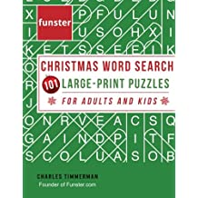 funster christmas word search 101 large print puzzles for adults and kids exercise your brain and fill your heart with christmas spirit - Christmas Word Search Games