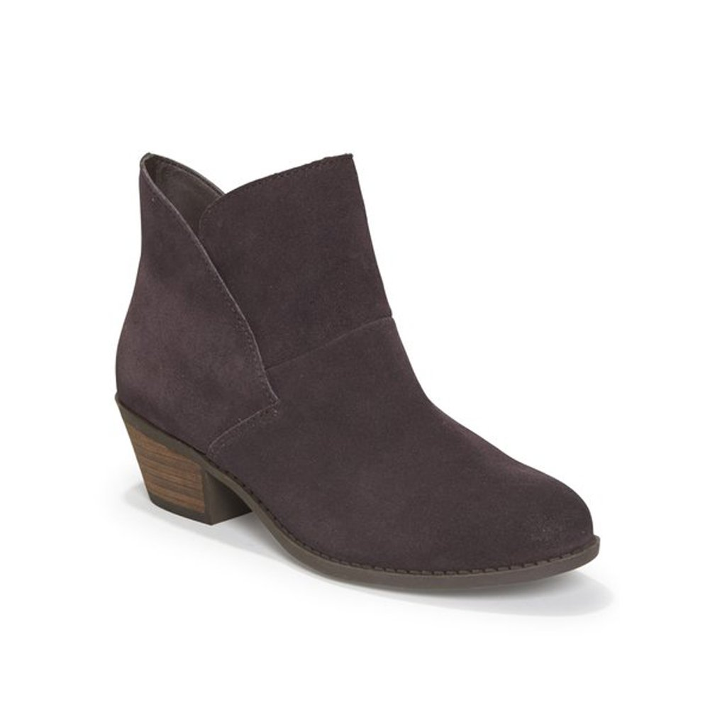 Dark Ruby Suede Me Too Womens Zena 14 Leather Almond Toe Ankle Fashion Boots