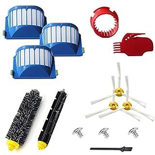 YOKYON 10pcs Accessories for iRobot Roomba 600 Series 595 614 620 630 645 650 655 660 680 690 Vaccum Cleaner Replenishment Parts Kit