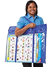 "Carson Dellosa Deluxe Pocket Chart Tote Bag—Large Organizer for Bulletin Boards, Charts, Calendars, Wall Art, Posters, Papers, Classroom Supplies Storage (24"" x 30"")"