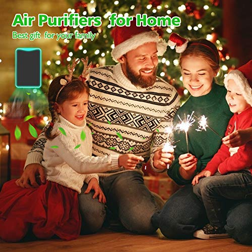 Air Purifier Plug in for Home, Mini Plug in Air Purifier, Portable Travel-Size Air Purifier Plug in Wall for Smell, Pet Dander, Bedroom, Hotel, Office(1-Pack)