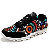 WEESDON Men's Breathable Graffiti Camouflage Fashion Sneakers Lace Up Shoes