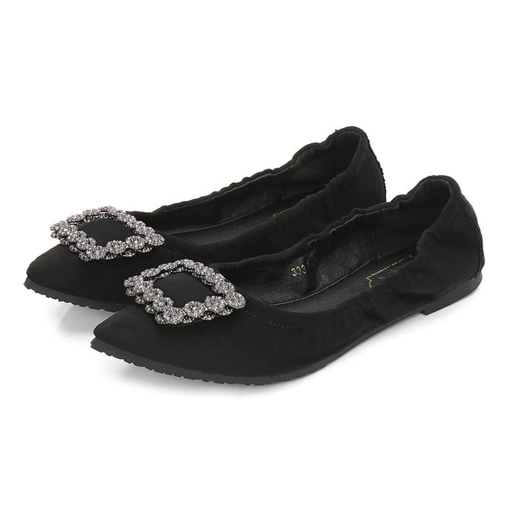 FLYRCX Pliable Noir Portable Chaussures Plates Dames Mode décontractée Chaussures EU de Travail Confortables 43 EU Chaussures 4d1810