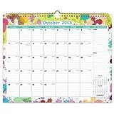 "Cabbrix October 2018 - December 2019 Monthly Wall Calendar, 15""x12"", Wirebound"