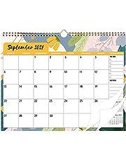 Väggkalender 2022, månadskalender årsplanerare 2022 med dubbel trådbindning, tjockt papper, stora block från sep 2021 – se 2022 för hemmet kontor för planering och organisering av engelska