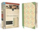 NIV, Cultural Backgrounds Study Bible, Leathersoft, Green, Red Letter Edition: Bringing to Life the Ancient World of Scripture
