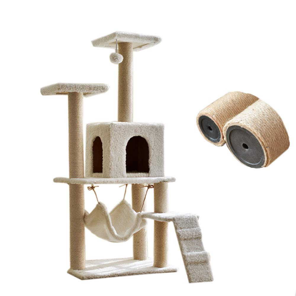 A Cat Climbing Frame, cat Scratch Board, cat Toy, cat Room pet Supplies color Selection, strengthening (color   A)