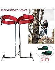 Hualieli Gear Tree Climbing Spike Set, Cinturón De Seguridad Cinturón De Rescate con Cuerda Ajustable, Herramienta para Trepar Árboles para Observación De Caza, Recolección De Fruta