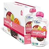 Plum Organics Mighty 4, Organic Toddler Food, Guava, Pomegranate, Black Bean, Carrot and Oat, 4.0 ounce (Pack of 12)
